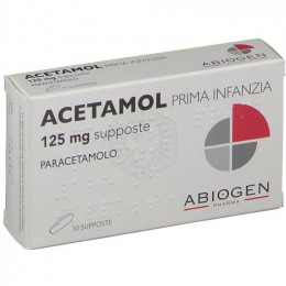 ACETAMOL PRIMA INFANZIA 125mg 10 Supposte