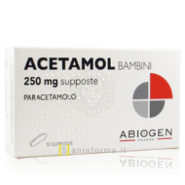 ACETAMOL BAMBINI 250mg 10 supposte