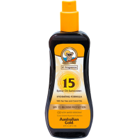 AUSTRALIAN GOLD SPF 15 OIL SPRAY SUNSCREEN CON CAROTA 237 ML