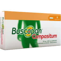 Buscopan Compositum 6 supposte 10 mg + 800 mg