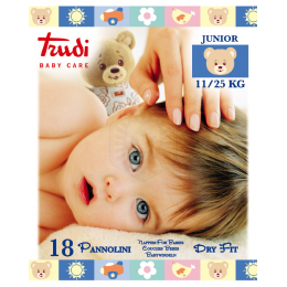 TRUDI BABY CARE PANNOLINI DRY FIT MINI JUNIOR 11/25 KG 16 PEZZI