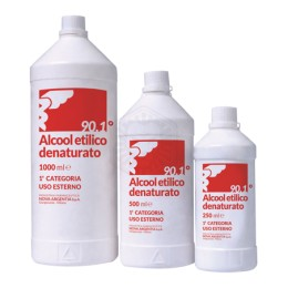 ALCOOL ETILICO DENATURATO 90,1% 250 ML