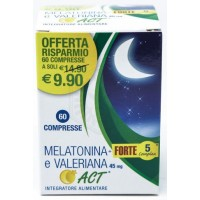 MELATONINA ACT 1MG + VALERIANA 5 FORTE COMPLEX 60 Compresse