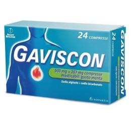 GAVISCON 24 Compresse Masticabili Gusto Menta 500+267mg