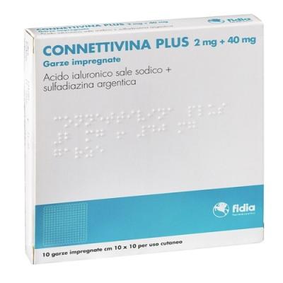 CONNETTIVINA PLUS 2 mg + 40 mg 10 Garze impregnate