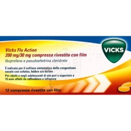 Vicks Flu Action 12 Compresse 200+30mg