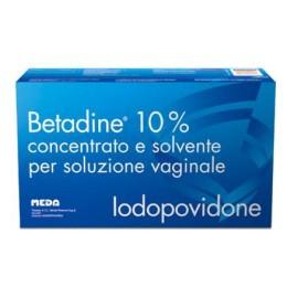 Betadine 10% Concentrato e solvente per soluzione vaginale 5 flaconi + 5 fialoidi + 5 cannule