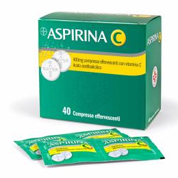 ASPIRINA C 400mg+240mg 40 Compresse effervescenti